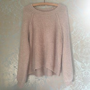 aerie Super Fuzzy Knit Cream Pullover Sweater